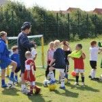 The players getting ready to start another session at one of our previous courses.