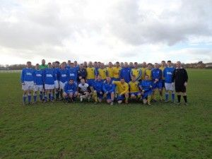 The collective photograph from last years fixture that was won by Alan's Ex Players managed by Danny Briscoe.