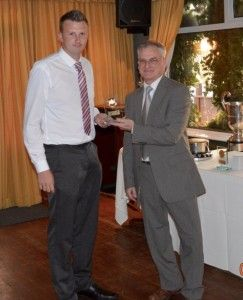 1st Team Goalkeeper Michael Arthur wins the Wearside Leagues Golden Gloves Award for the second consecutive season.