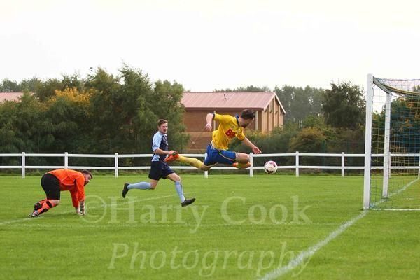 Max Craggs scoring his second and Stockton's third goal in our 4 0 victory in the Shipowners Cup.