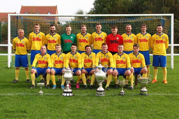 Stockton Town FC team shot and trophy,s 10-10-2015