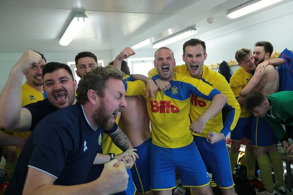 Team Changing Room immediately after the final whistle on Saturday.