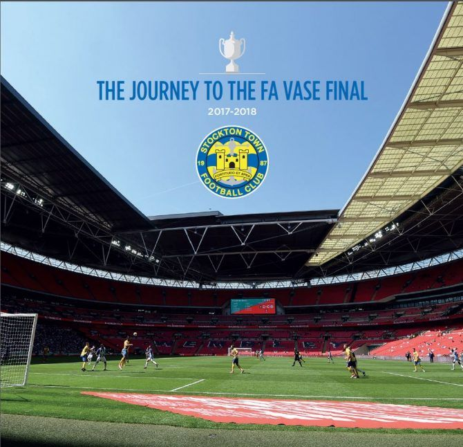 Fa Vase Commemorative Brochure Launch Stockton Town Football Club