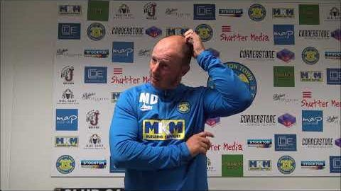 Post Match Reaction: Michael Dunwell v Ashington (League Cup)