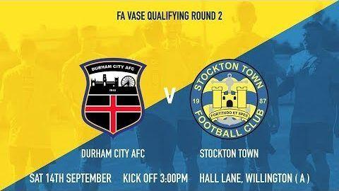 FA Vase: Durham City v Stockton Town- 19/20