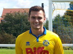 Stockton Town's All Time Leading Appearance maker, Adam Nicholson.