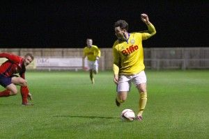 Chris Stockton gave the Jarrow defence a torrid time in the opening minutes and grabbed Stockton's second of the game.
