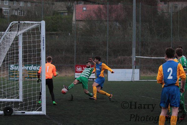 Tom Coulthard scoring Stockton's 5th goal of the afternoon.