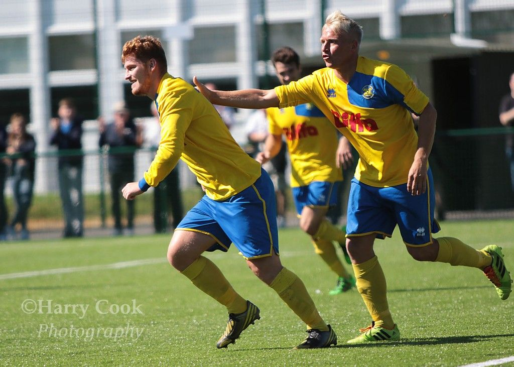 Kallum Hannah scored Stockton's 1st goal from the penalty spot.