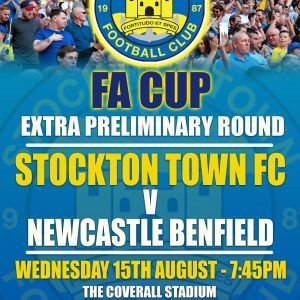 FA Cup Football at Stockton Town FC
