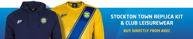 Stockton Town FC kit and leisurewear