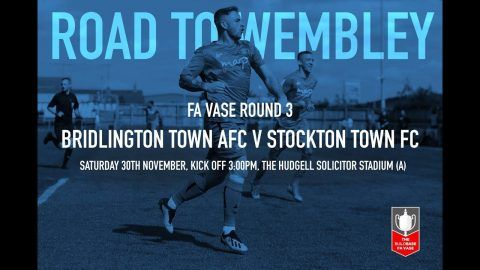 FA Vase: Bridlington Town v Stockton Town- 19/20