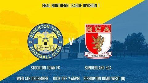 Stockton Town v Sunderland RCA- 19/20