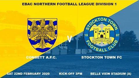 Consett AFC v Stockton Town- 19/20