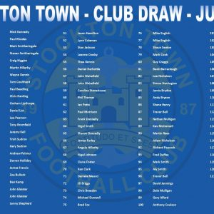 Monthly Draw – July's Numbers