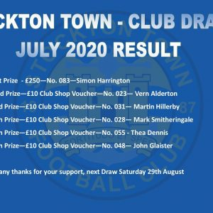 Monthly Draw – July's Winners