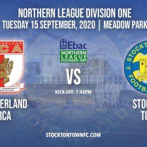 Supporter Information (15.09.20) : Sunderland RCA vs Stockton Town