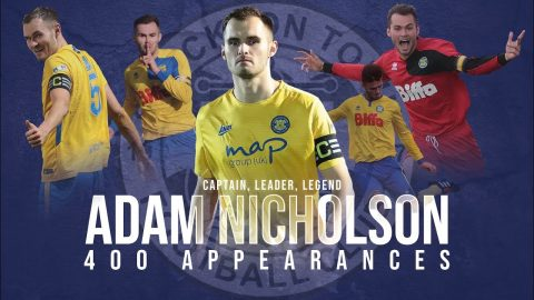 EXCLUSIVE | Adam Nicholson reflects on Stockton Town career after reaching 400 appearances