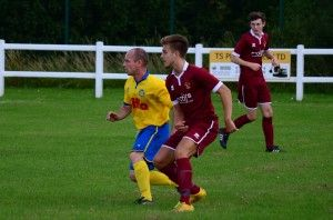 """Davy """"Porky"""" Dowd in recent action against Spennymoor Town Reserves."""