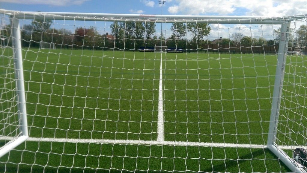 Pitches set up and ready for the forthcoming holiday course.